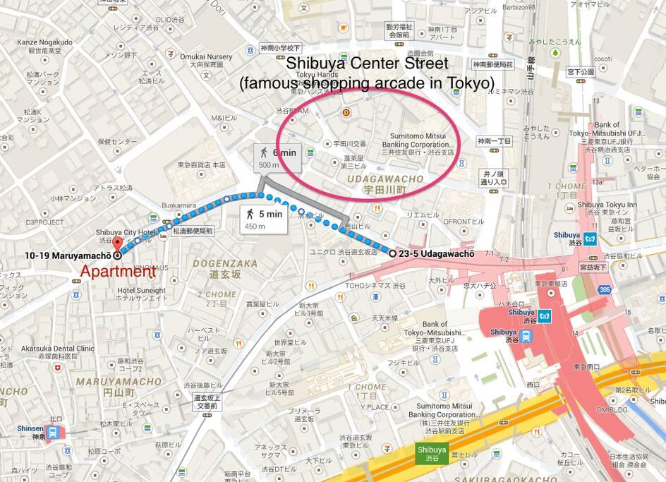 Near Shibuya station!