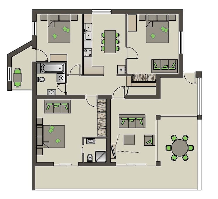 a detailed plan of the apartment