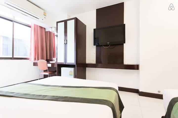 CityCentreFreeWifiDeluxeTwinBed - Bangkok - Bed & Breakfast