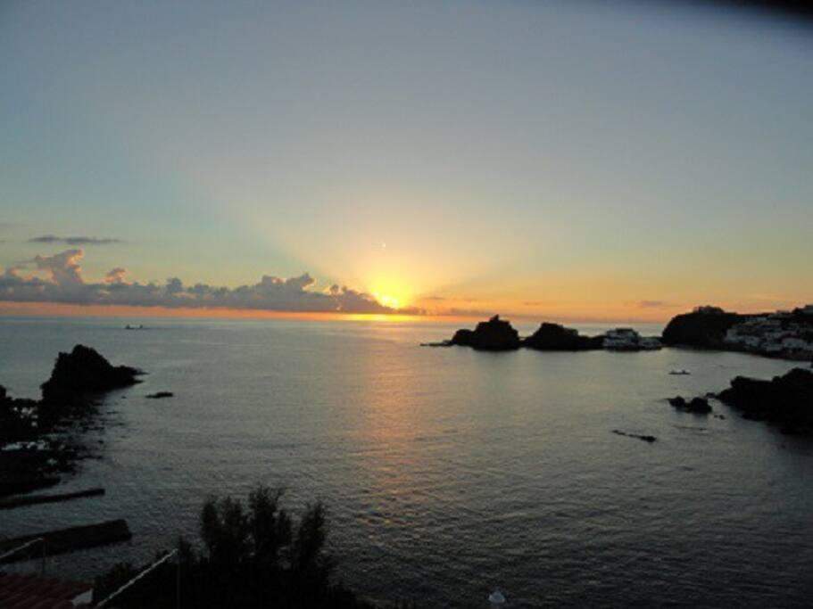 Vista desde la casa(el amanecer)