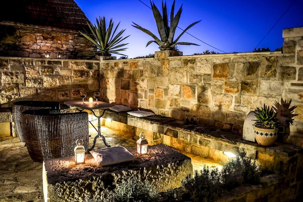 Summer kitchen terrace