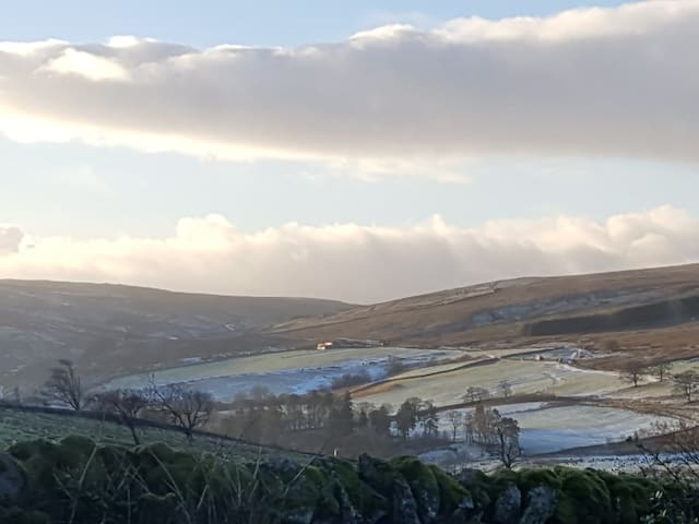 Wintry views from the rear of the house