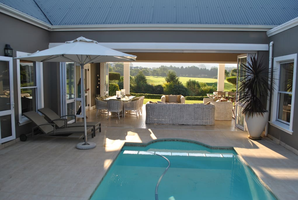 Swimming pool in enclosed private courtyard