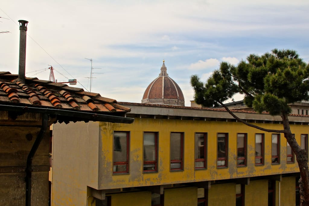 cupola of Duomo as seen from living room