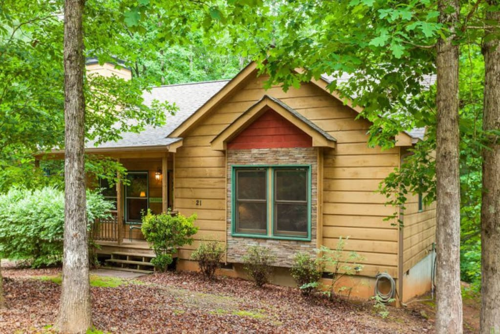 Wildwood adorable cabin in woods cabins for rent in for Ellijay cabins for rent by owner