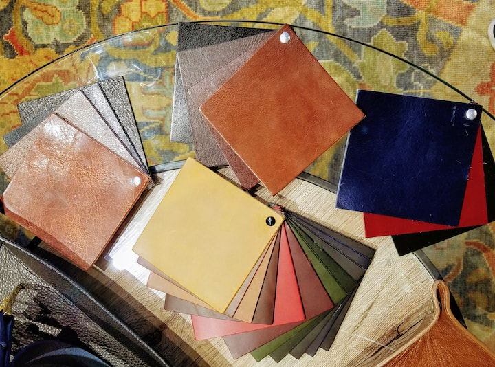 Leathers come in 4 types & 30+ colors.