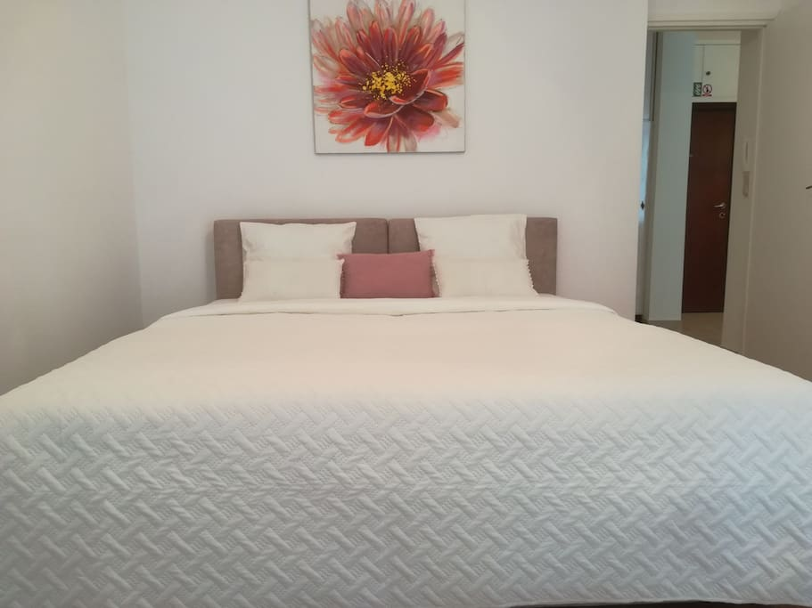 Bedroom with new double bed