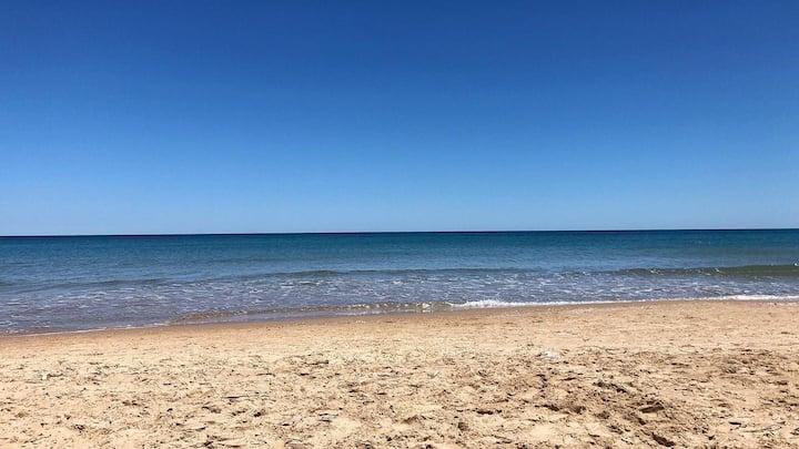 Casita del mar con acceso directo a la playa