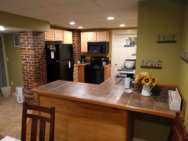 A well appointed kitchen whether you are making coffee or preparing meals.
