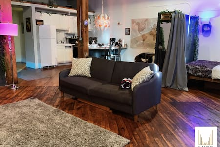 Ultramodern Movie Night Experience Loft Downtown