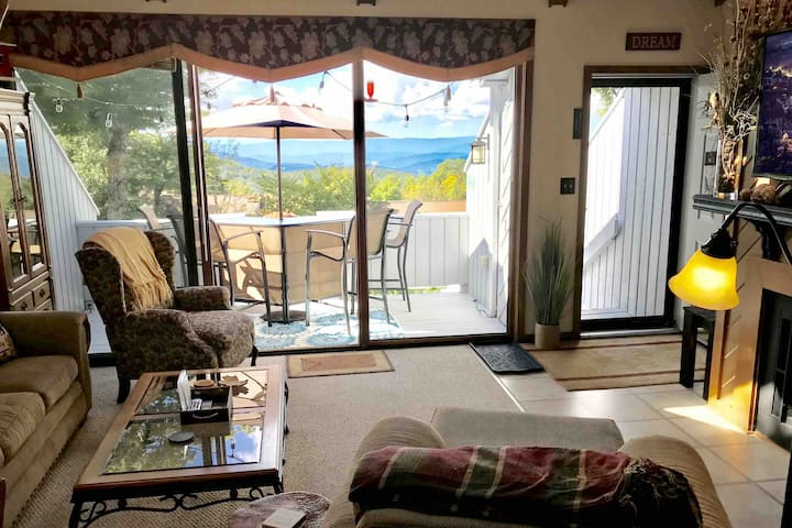 Cozy and clean w/ views! Walk to food, bars & town