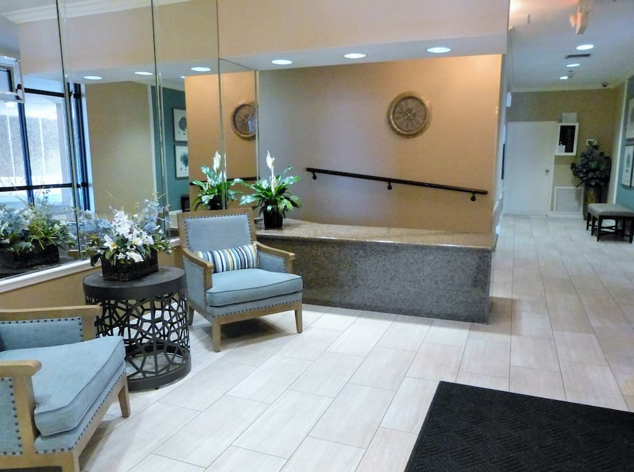 Recently renovated foyer to your building