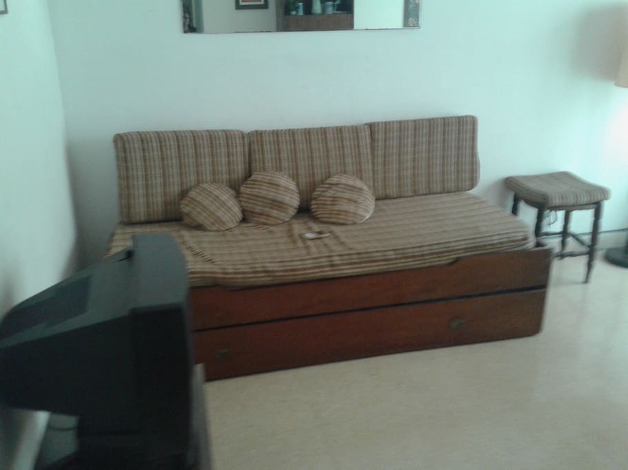 Sofá cama que posee una cama adicional