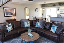 Big Comfy Leather Sectional