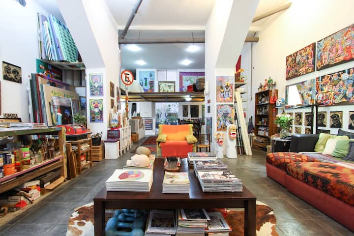 Loft Artístico Centro de São Paulo
