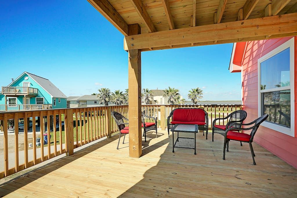 Large first floor patio with views of ocean and intercoastal.