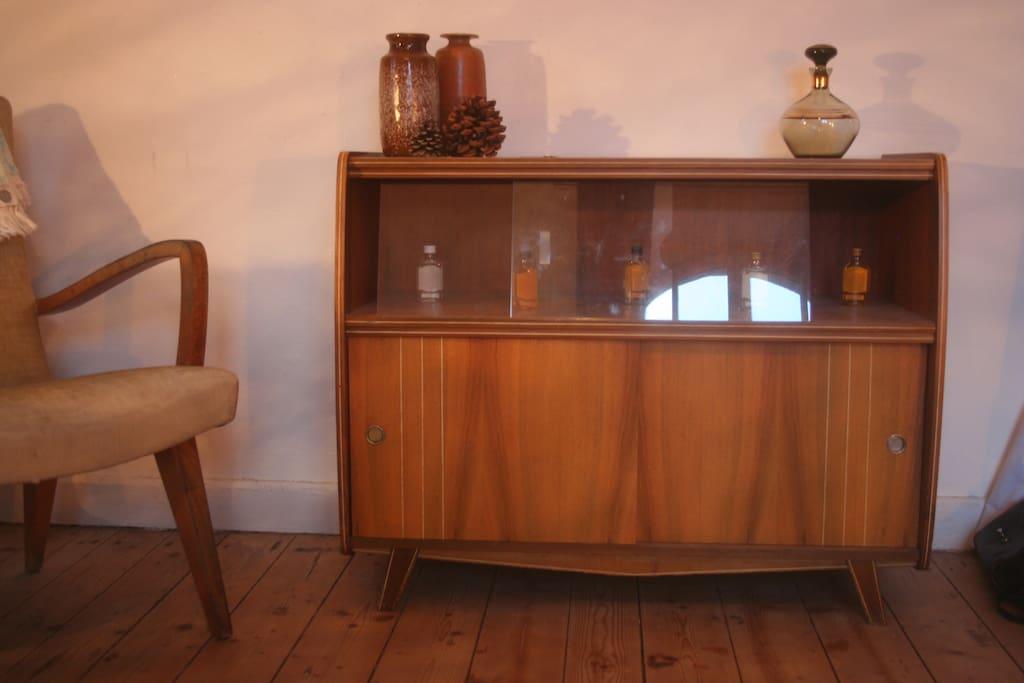 Vintagemöbel und Dielenboden