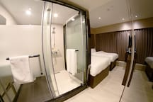 Separated washroom and bathroom, both are spacious then you can expect;