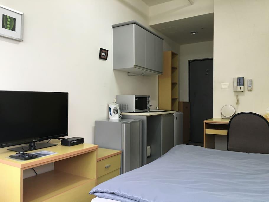 全套設備獨立公寓 Service apartment with full facilities and free WiFi.