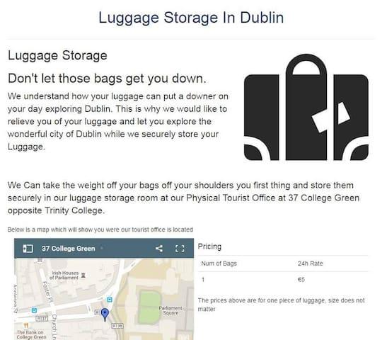 Luggage Storage in Dublin City