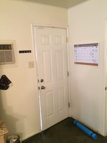 The entrance/exit