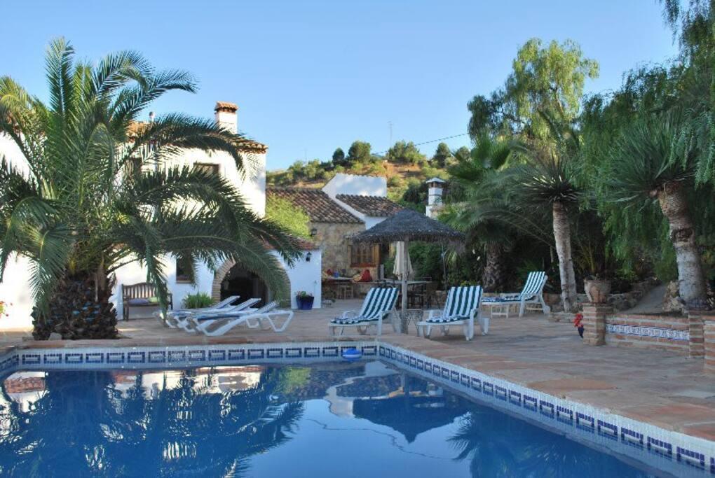 Extensive pool terrace