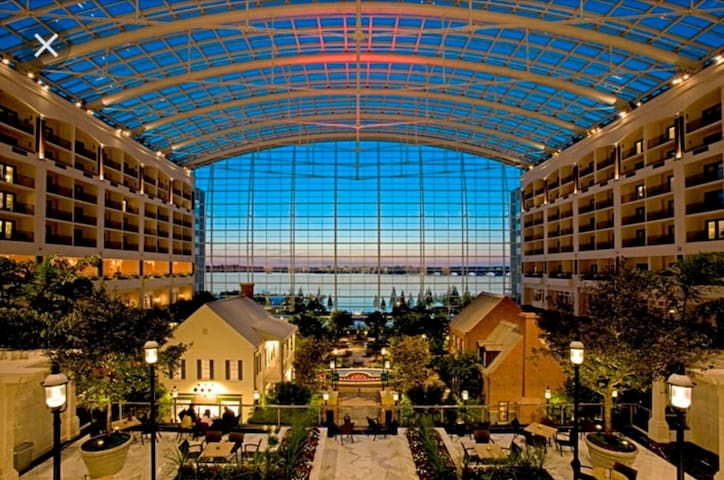 Interior Atrium of the Gaylord Hotel and Convention Center