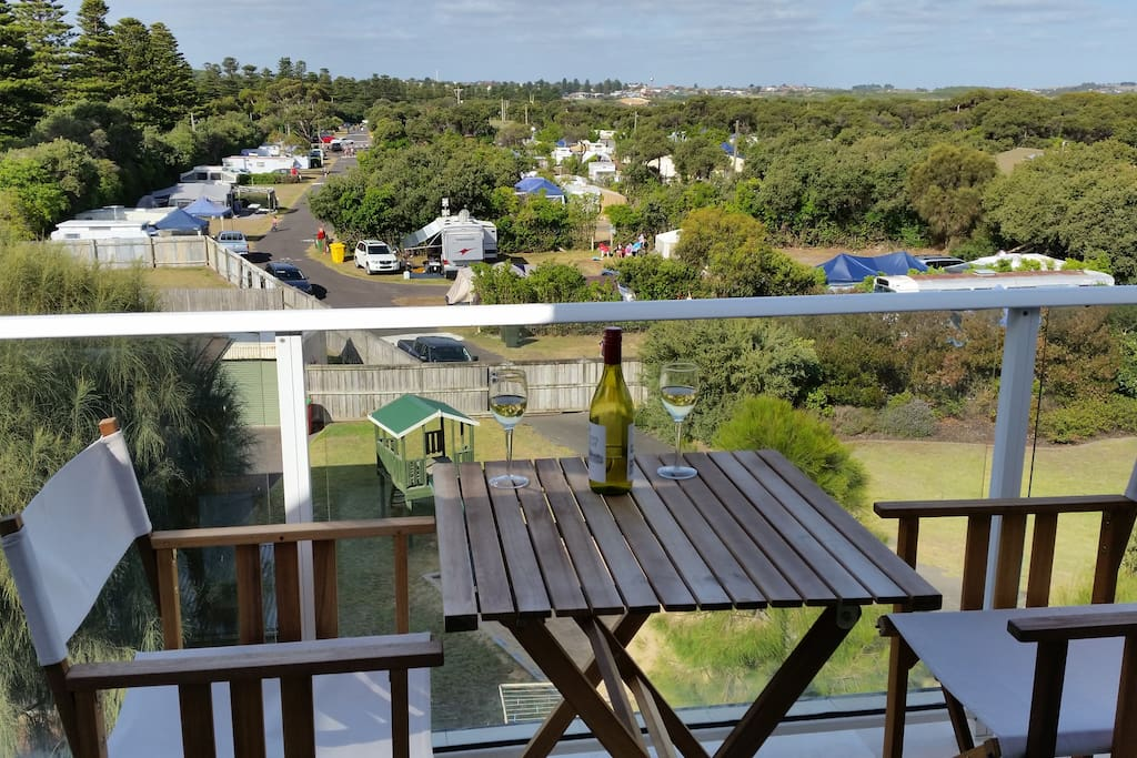 View over the caravan park