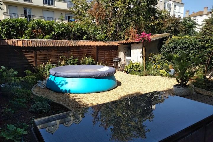 Appartement 70m2 avec jardin 20min centre de Paris