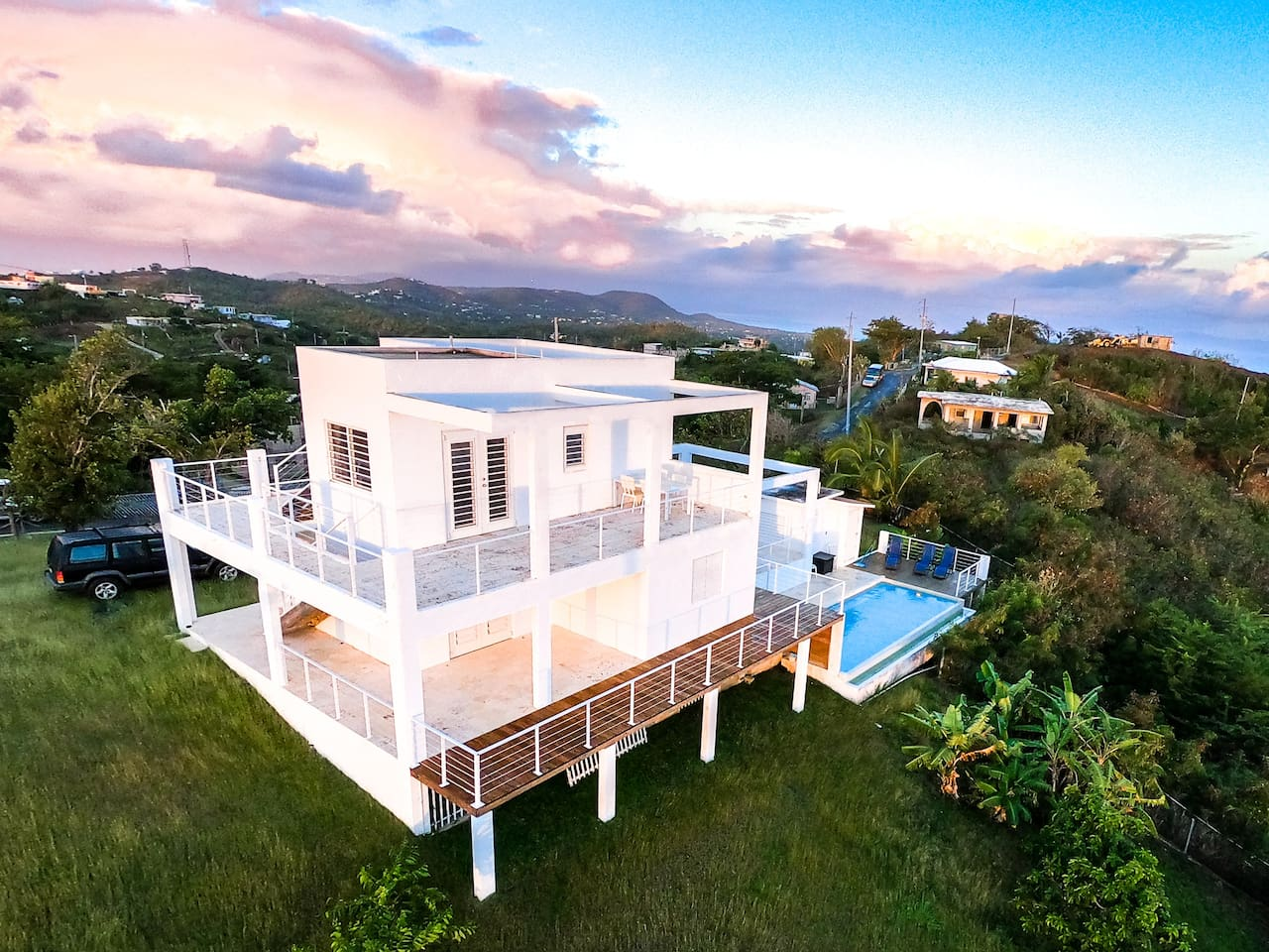 360Vieques - your romantic getaway.  A modern villa on top of one of the highest hilltops of Vieques with a private pool and 360 degree views.