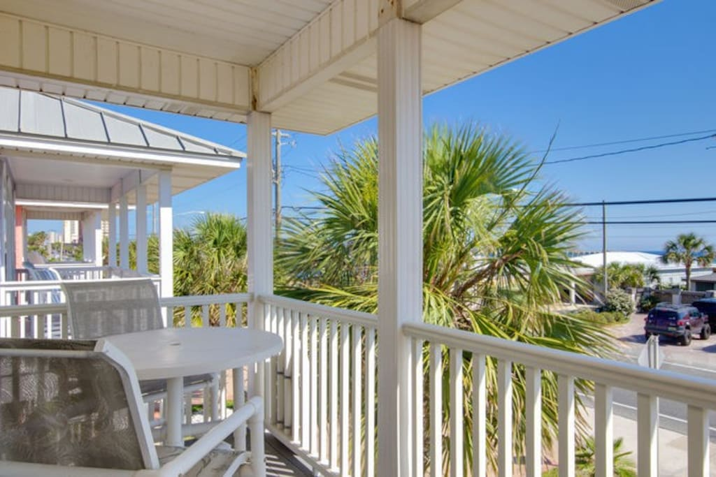 Enjoy Gulf breezes and the sounds of waves hitting the beach!