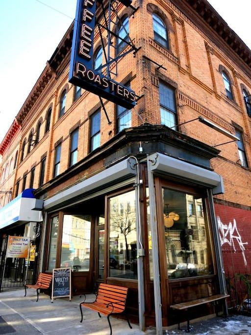 My favorite coffee shop in Bushwick a couple doors down from us!