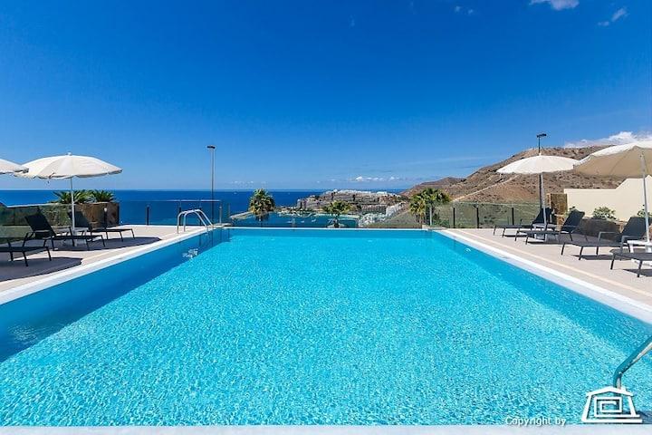 luxurious apartments in Arguineguin, vista mar