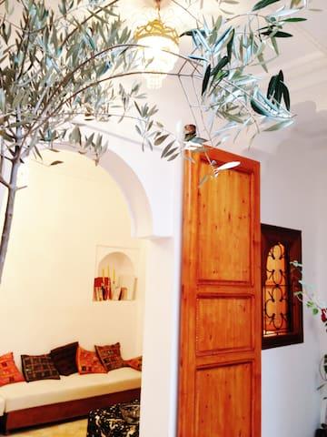 Riad étage entier - 3 chambres dont Suite pour 4