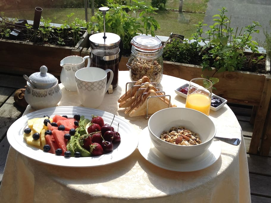 Would you like a light breakfast on the deck?