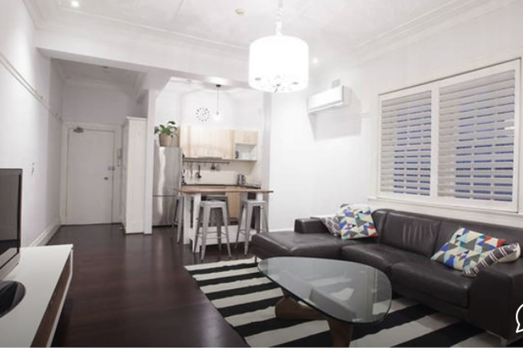 Spacious living and dining areas.