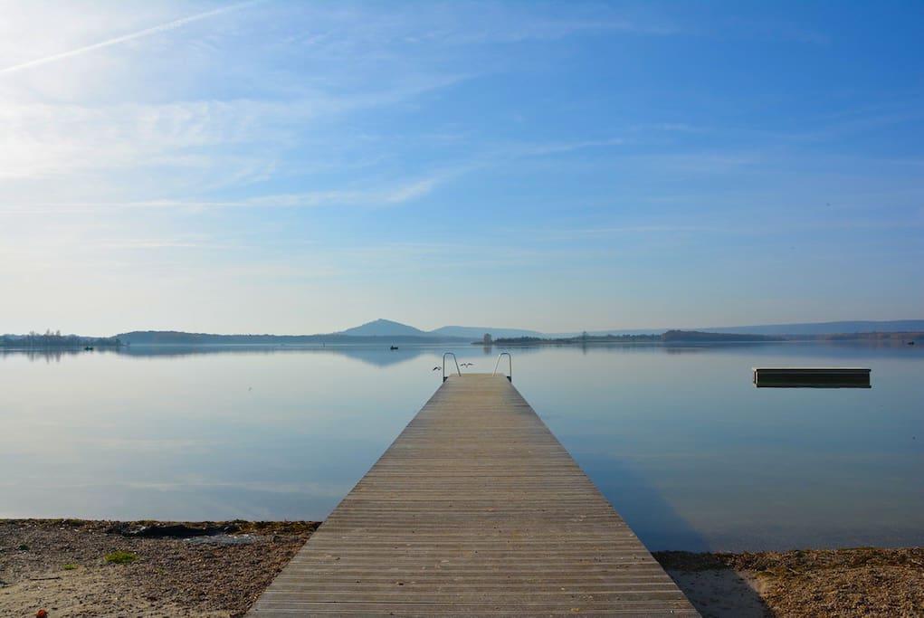 Magnifique Lac de Madine. Balade, rando, centre équestre, acro branches et pleins d'autres activités.