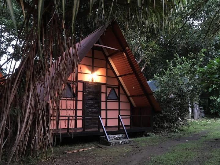Big Aframe Hut for 4 guests