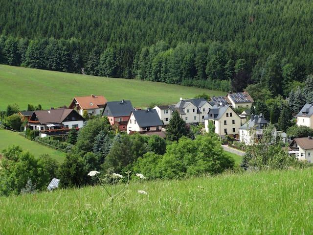 Haus Am Vaterlandsgrubenweg mit 2 Gästewohnungen. - Oelsnitz/Erzgebirge - Leilighet