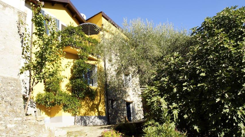 Dorfhaus mit Garten u. Weitblick - Borgomaro - Rumah