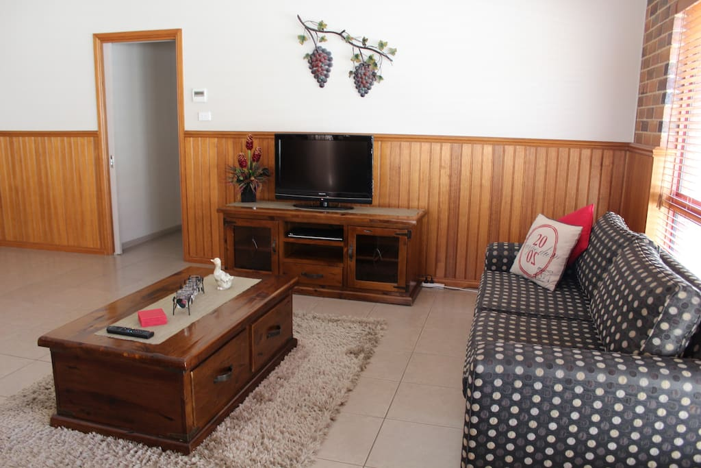 Living Area with Flat Screen T.V. DVD Player