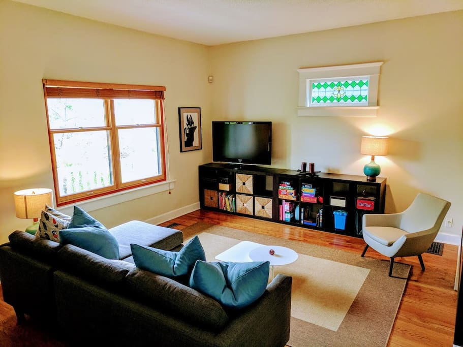 Bright, spacious family room/living room!