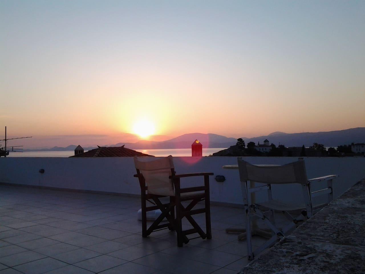 enjoy the beautiful sunset on  Terrace