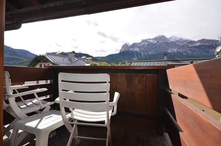Camera matrimoniale a Cortina d'Ampezzo in B&B