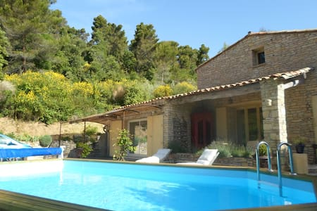 Belle Maison en pierres, piscine, spa, Lubéron - Villeneuve