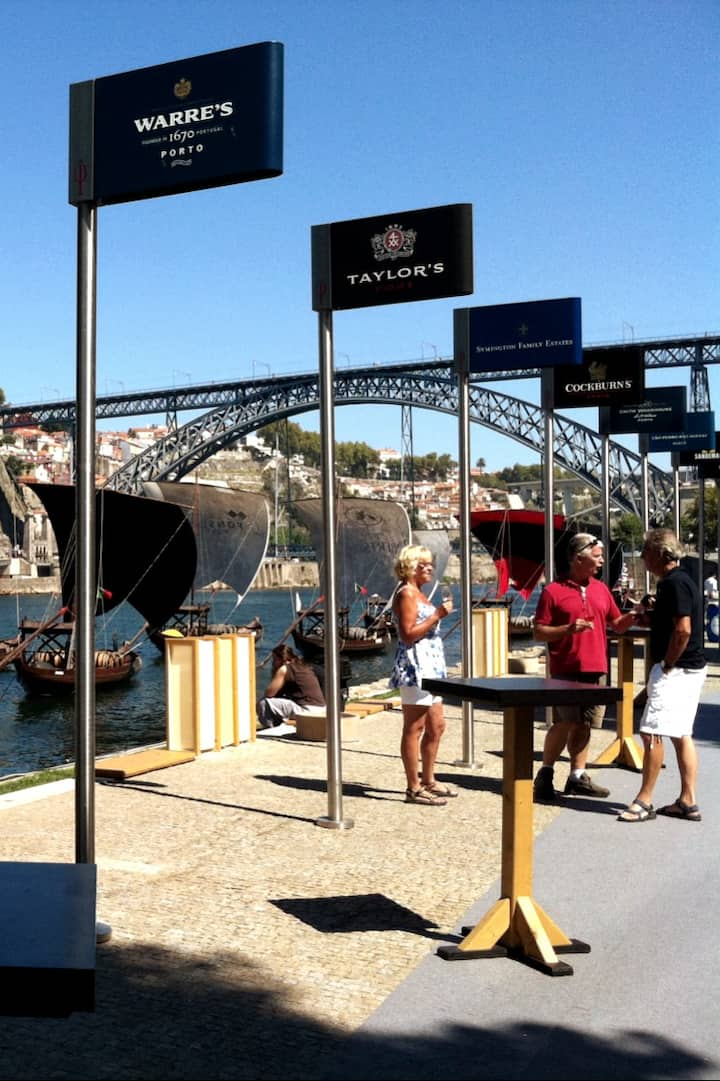 Douro river and port wine cellars