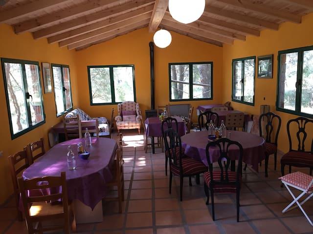 Cabaña de acogida en Piedralaves