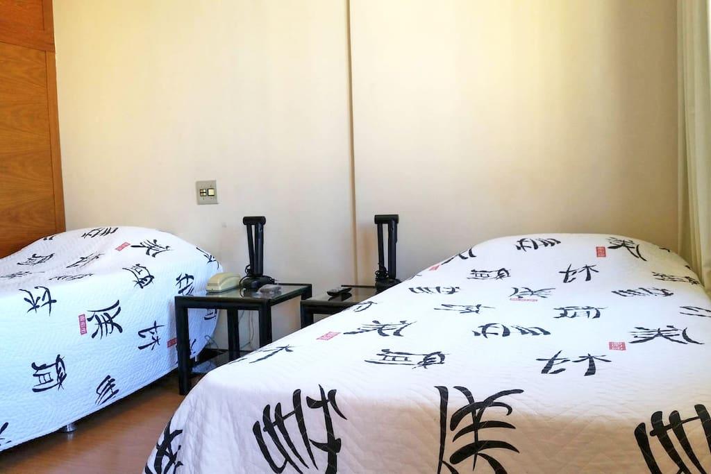 Opção com 02 camas de solteiro