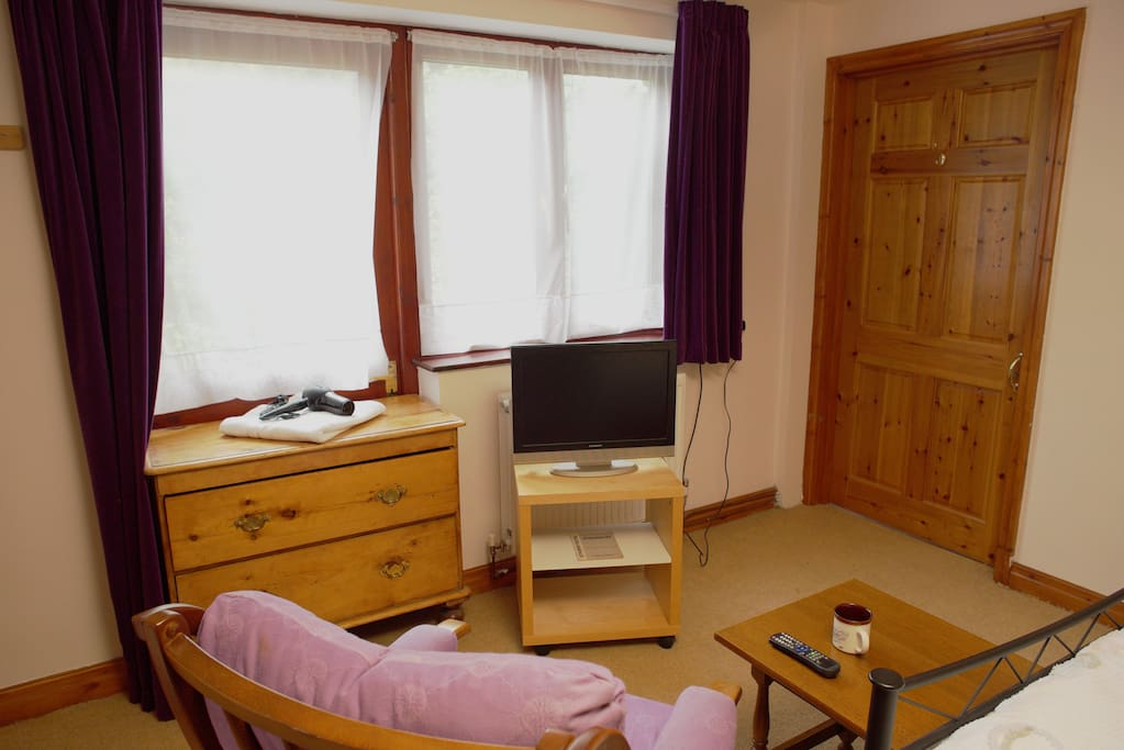 Bedroom with TV and Chest of Drawers