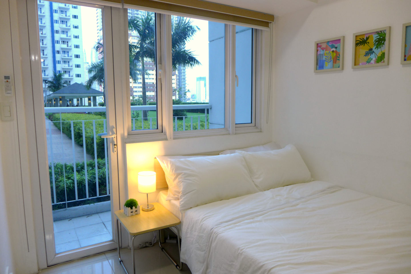 You can enjoy the view of the amenities from the balcony